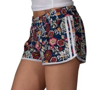 Adidas Navy floral short shorts Xs